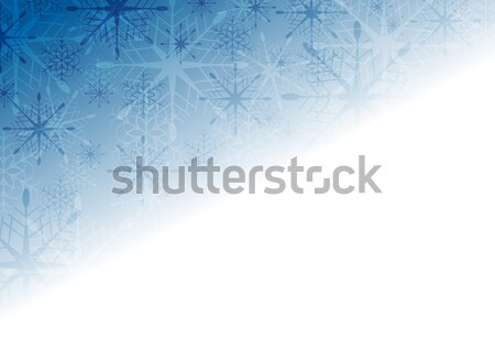 Shiny blue Christmas holiday background Stock photo © saicle