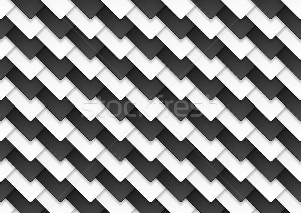 Bianco nero abstract tech contrasto piazze vettore Foto d'archivio © saicle