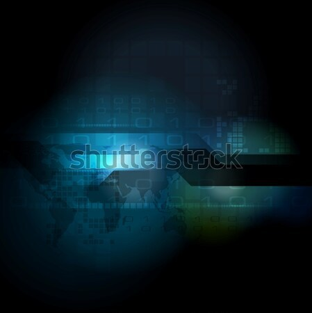Abstract vector ontwerp donkere Blauw wereld Stockfoto © saicle