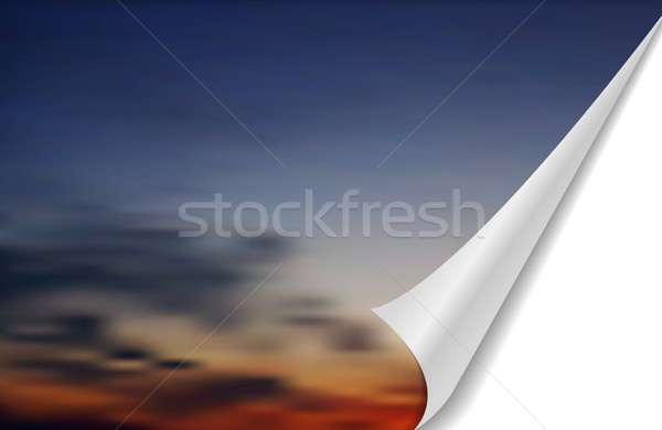 Abstract cloudscape with folded edge Stock photo © saicle