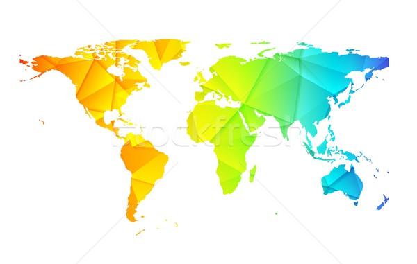 Stockfoto: Laag · wereld · aarde · kaart · abstract · vector