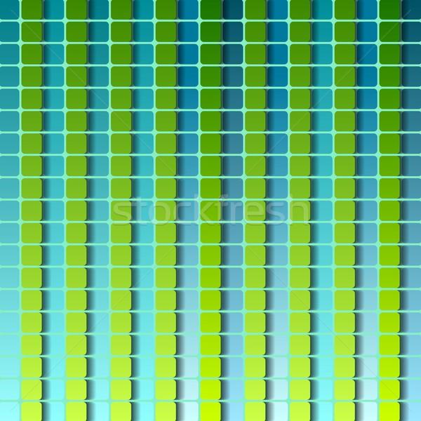 Abstract piazze disegno geometrico design verde turchese Foto d'archivio © saicle