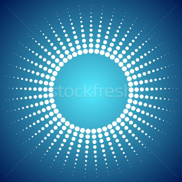 Abstract bright dotted sun background Stock photo © saicle
