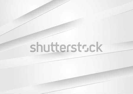 Abstract light grey vector background with stripes Stock photo © saicle