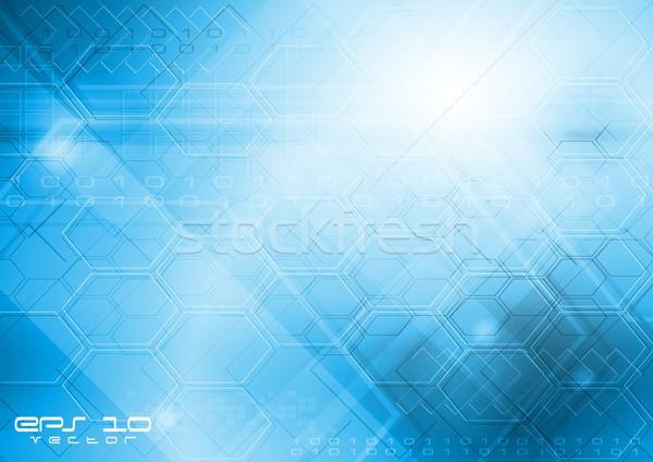 технической абстракция синий прибыль на акцию 10 вектора Сток-фото © saicle