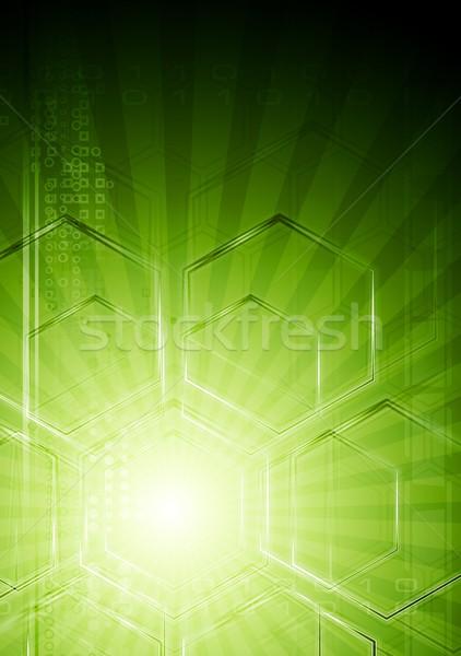 зеленый Tech абстракция аннотация технической дизайна Сток-фото © saicle