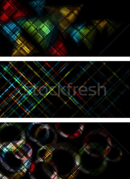 Multicolored banners Stock photo © saicle