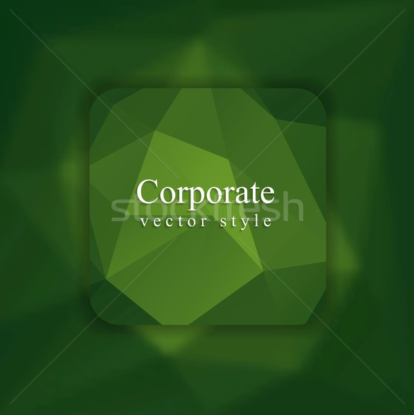 Abstract green modern polygonal background Stock photo © saicle