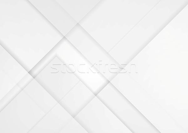 Luce grigio tech materiale vettore grafica Foto d'archivio © saicle