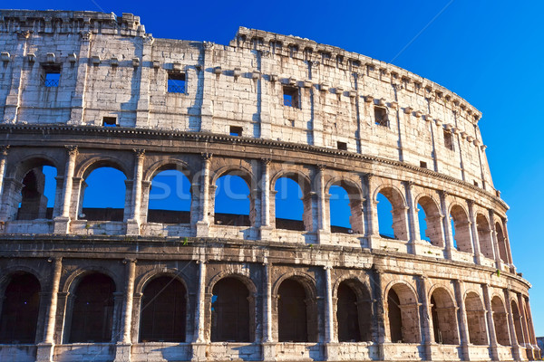 Coliseo Roma hermosa vista famoso antigua Foto stock © sailorr
