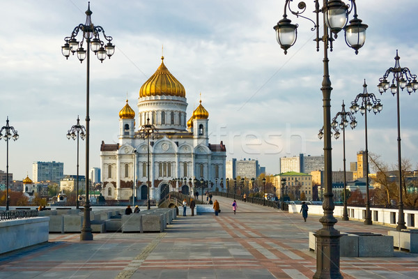 Cathedral of Christ the Saviour in Moscow Stock photo © sailorr