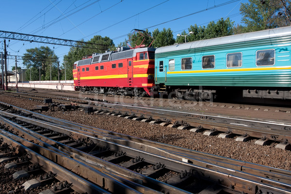 Electric locomotive Stock photo © sailorr