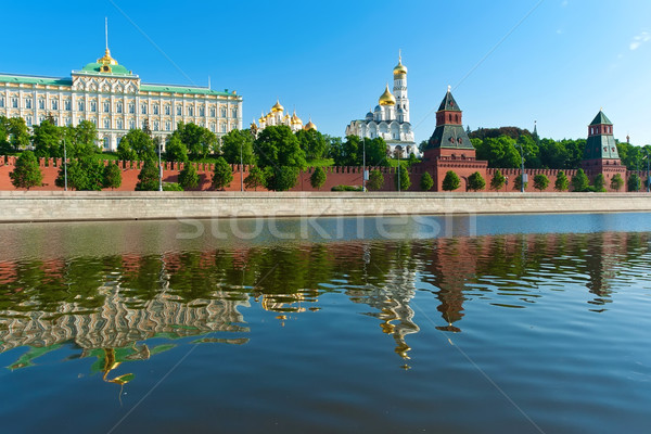 Moscú Kremlin hermosa vista río Rusia Foto stock © sailorr