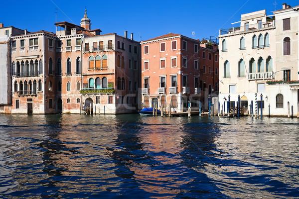 Венеция красивой мнение известный канал Италия Сток-фото © sailorr