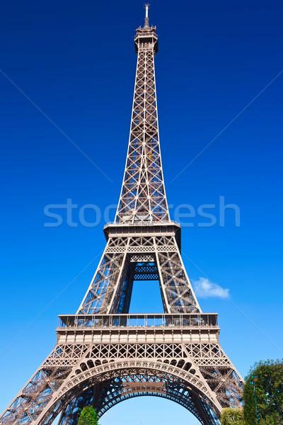Eyfel Kulesi Paris güzel görmek ünlü Fransa Stok fotoğraf © sailorr