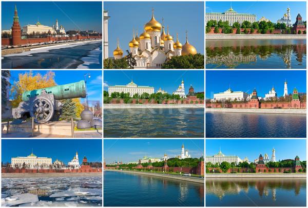 モスクワ クレムリン 美しい 写真 川 ロシア ストックフォト © sailorr