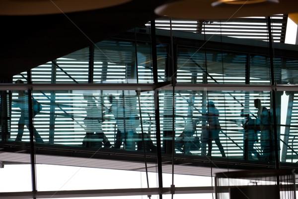 Aeroporto bella foto sala grande Windows Foto d'archivio © sailorr
