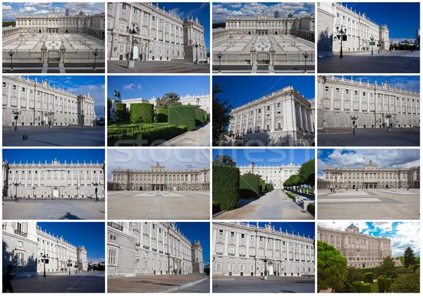 Foto stock: Real · palácio · Madri · belo · ver · famoso
