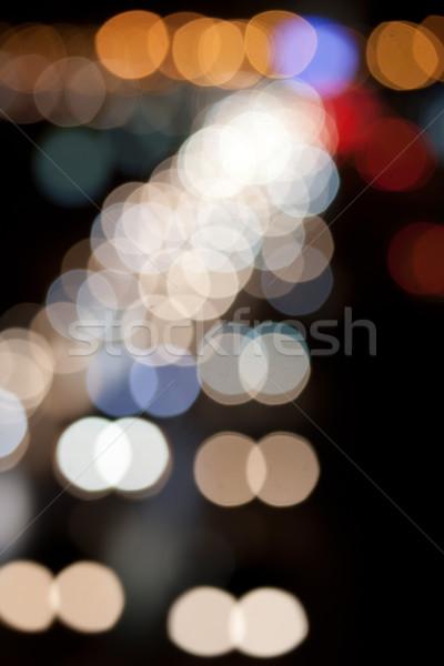Notte strada traffico offuscata luci città Foto d'archivio © sailorr