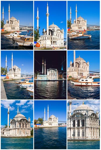 Mecset Isztambul bank Törökország égbolt tenger Stock fotó © sailorr