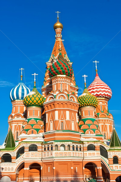 Saint basilic cathédrale Moscou Place Rouge Kremlin Photo stock © sailorr