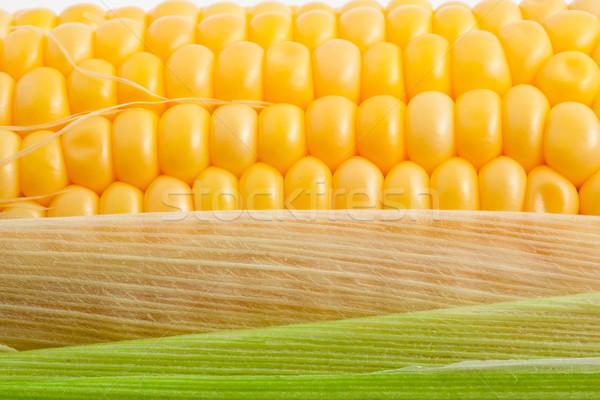 кукурузы макроса фото желтый здорового вкусный Сток-фото © sailorr