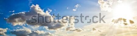Beautiful sun rays in the sky Stock photo © sailorr