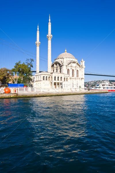 Mezquita banco Estambul Turquía cielo mar Foto stock © sailorr
