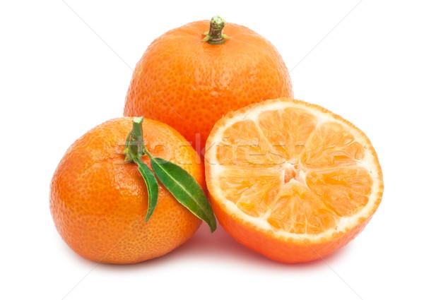 Sappig geïsoleerd witte voedsel oranje vers Stockfoto © sailorr