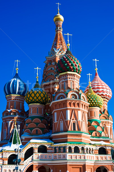 Saint basilic cathédrale Place Rouge Moscou Russie Photo stock © sailorr