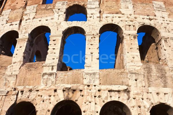 Colosseum Rome mooie beroemd oude Stockfoto © sailorr