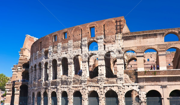 Stockfoto: Colosseum · Rome · mooie · beroemd · oude