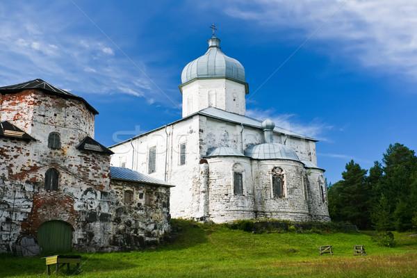 Ortodoxo iglesia hermosa antigua ruso cielo Foto stock © sailorr