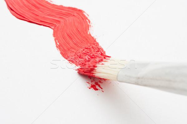 Brush and paint Stock photo © sailorr