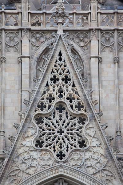 Gotik katedral Barcelona ayrıntılar ünlü Stok fotoğraf © sailorr