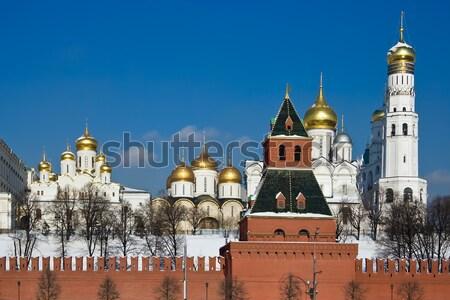 Moscú Kremlin rojo ladrillo paredes famoso Foto stock © sailorr