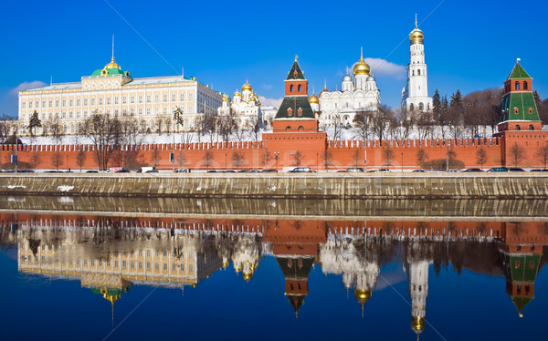 Moscow Kremlin and reflection Stock photo © sailorr