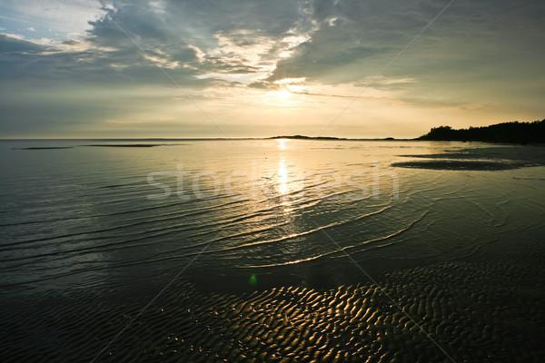 морем закат красивой ярко красочный белый Сток-фото © sailorr