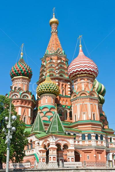 Albahaca catedral Moscú La Plaza Roja Kremlin Foto stock © sailorr