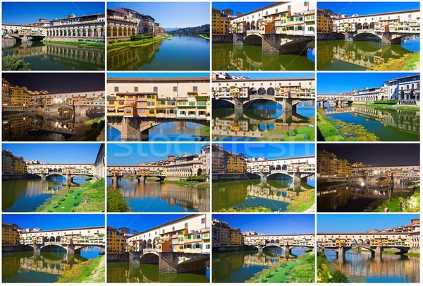 Stok fotoğraf: Eski · köprü · Floransa · Toskana · İtalya · su