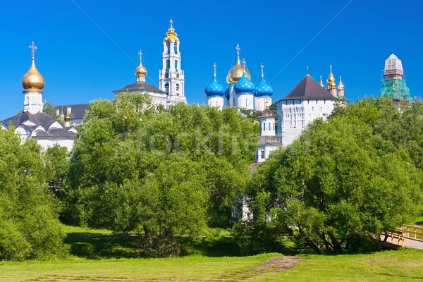 Mosteiro natureza verão igreja arquitetura torre Foto stock © sailorr