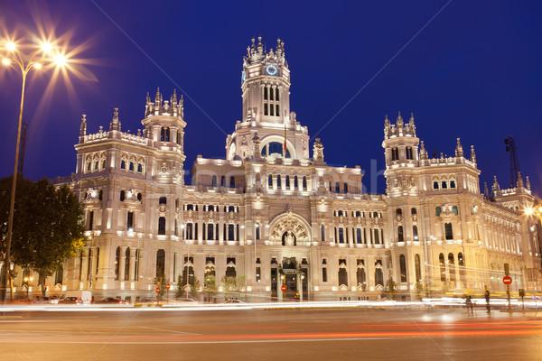 Palacio Madrid central oficina de correos cuadrados España Foto stock © sailorr