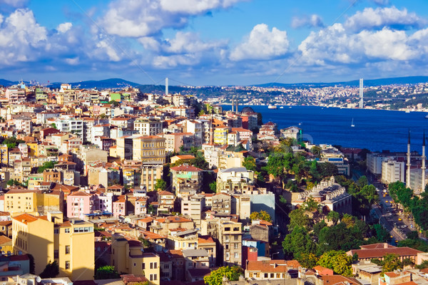Istanbul and Bosphorus panorama Stock photo © sailorr