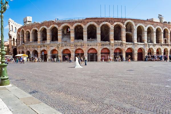Romano arena verona antigo Itália casamento Foto stock © sailorr