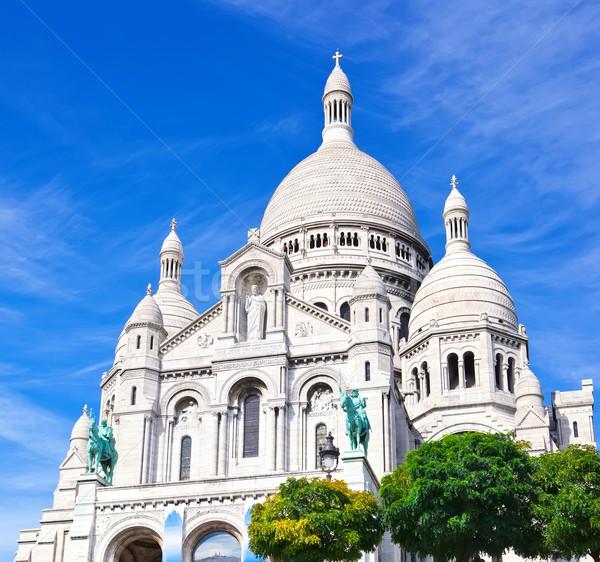 Párizs bazilika Montmartre Franciaország város istentisztelet Stock fotó © sailorr