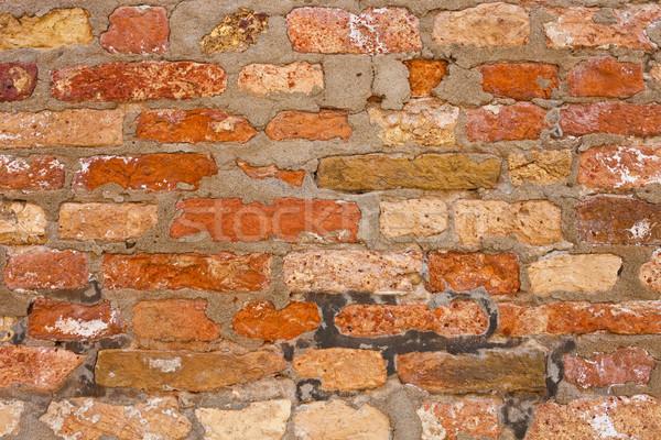 кирпичная стена красивой старые красный текстуры строительство Сток-фото © sailorr