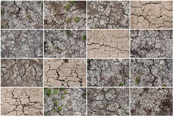 высушите землю треснувший землю текстуры фон Сток-фото © sailorr