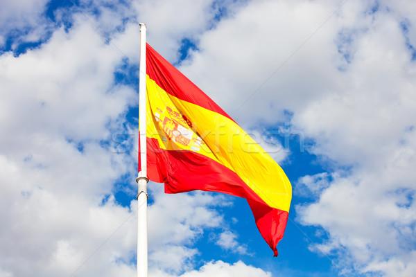 スペイン国旗 フラグ スペイン 青空 移動 風 ストックフォト © sailorr