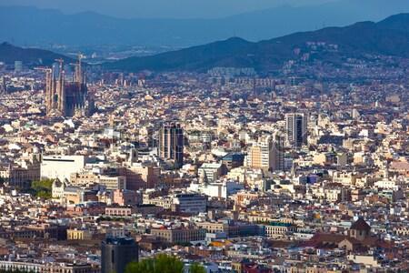 Barcelona panorama Cityscape familia görmek Bina Stok fotoğraf © sailorr