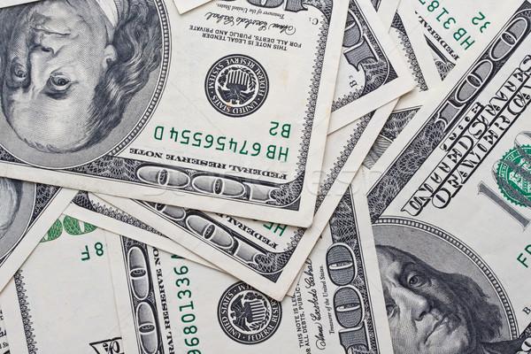 Dollari dollaro note caotico business sfondo Foto d'archivio © sailorr